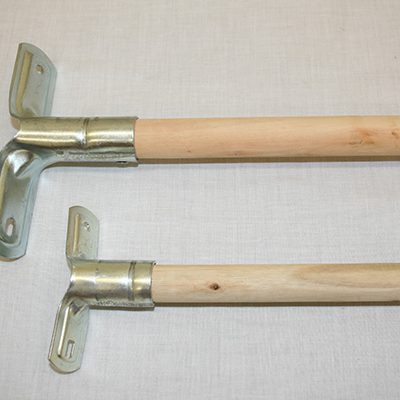 Metal grip wooden handles